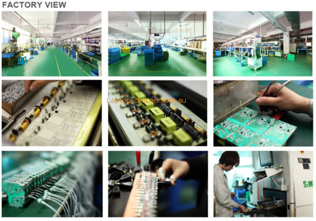 laptop charger factory view